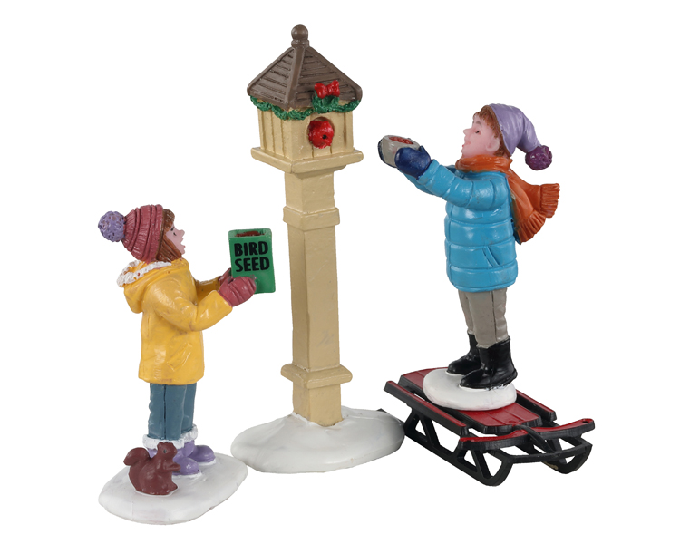 The bird feeders, set of 3