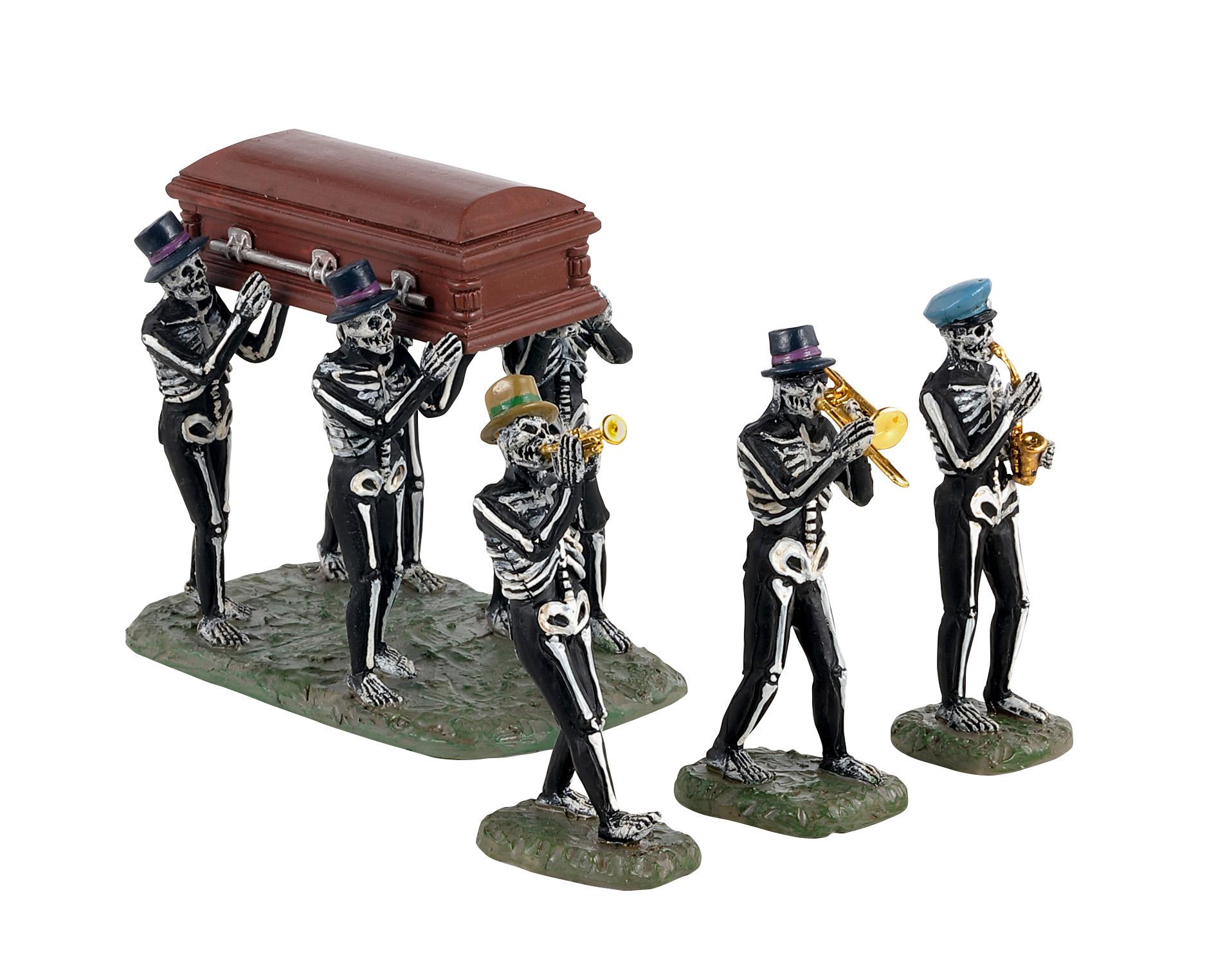 Jazz funeral, set of 4