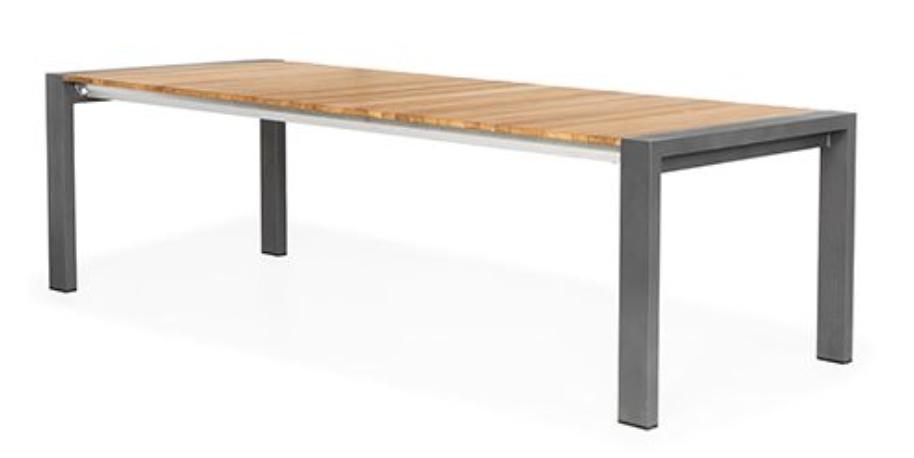 Rialto Verstelbare Tuintafel Teak 163/204x100x75 cm