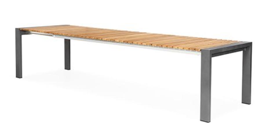 Rialto Verstelbare Tuintafel Teak 262/330x100x75 cm