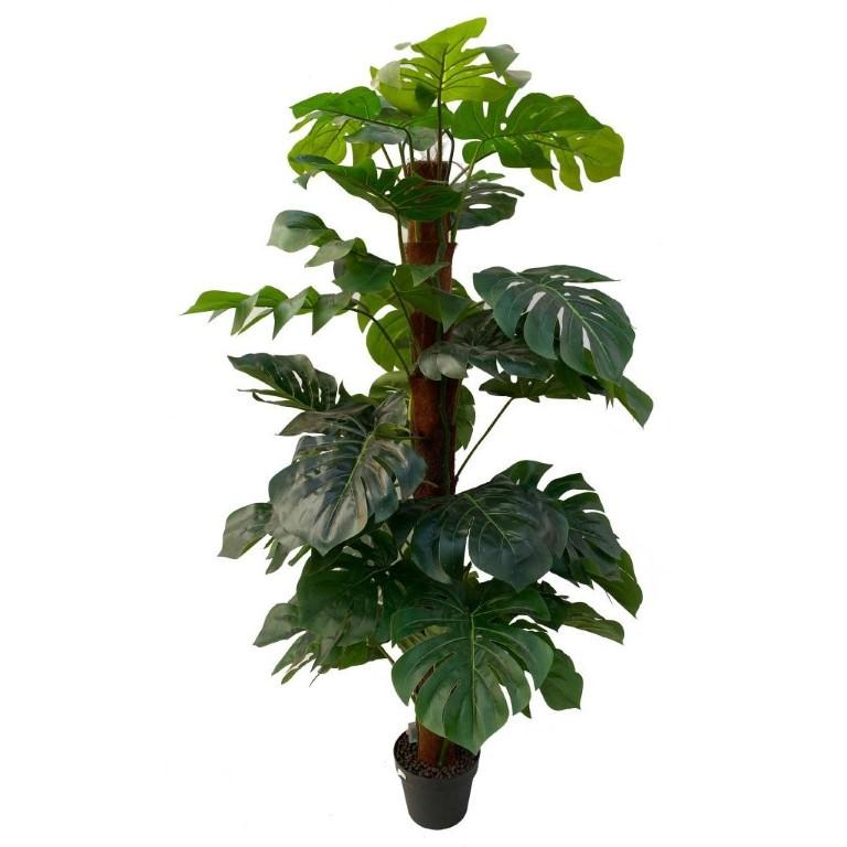 Monstera (gatenplant) Real touch zijden kunstplant 150cm