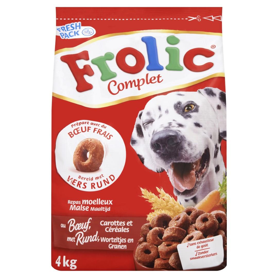 Hondenvoer Droog Rund 4kg Frolic