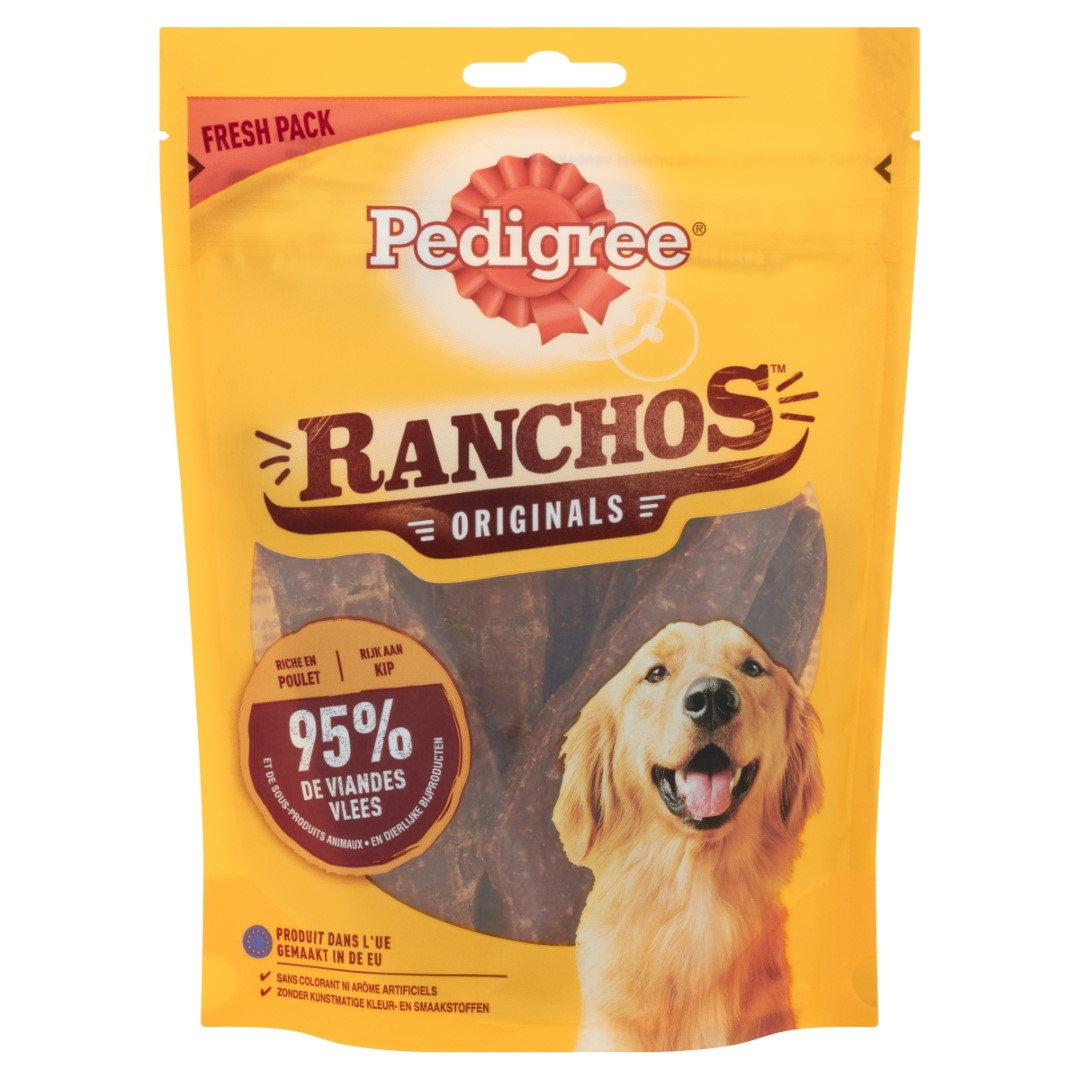 Hondenvoer Ranchos Kip 70 g 1x7 Pedigree