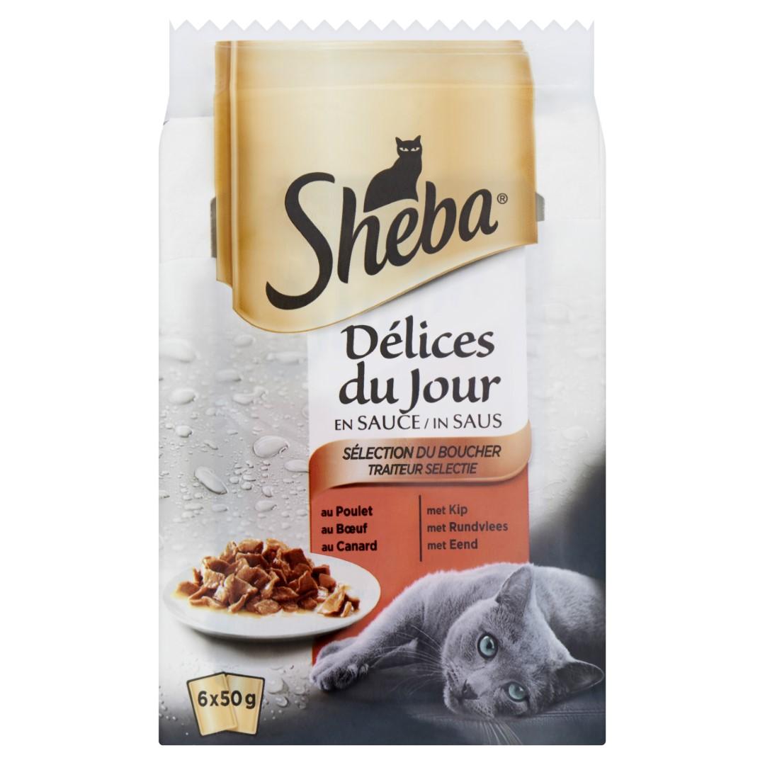 Kattenvoer Delices du Jour Traiteur selectie maaltijdzakjes 6x50 g 1x6 Sheba