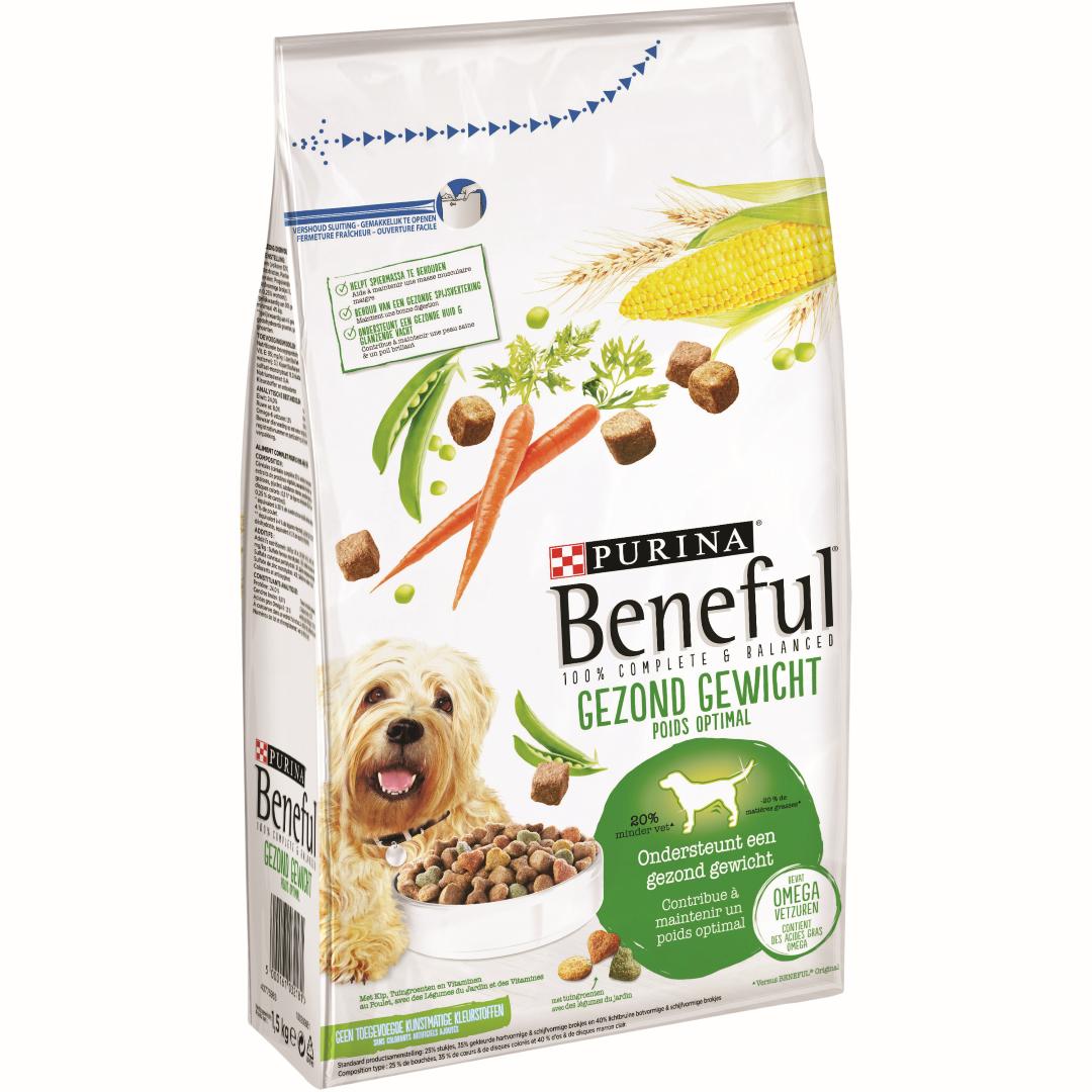 Beneful gezond gewicht met kip, tuingroenten en vitaminen. droge hondenvoeding. 1,5kg Purina