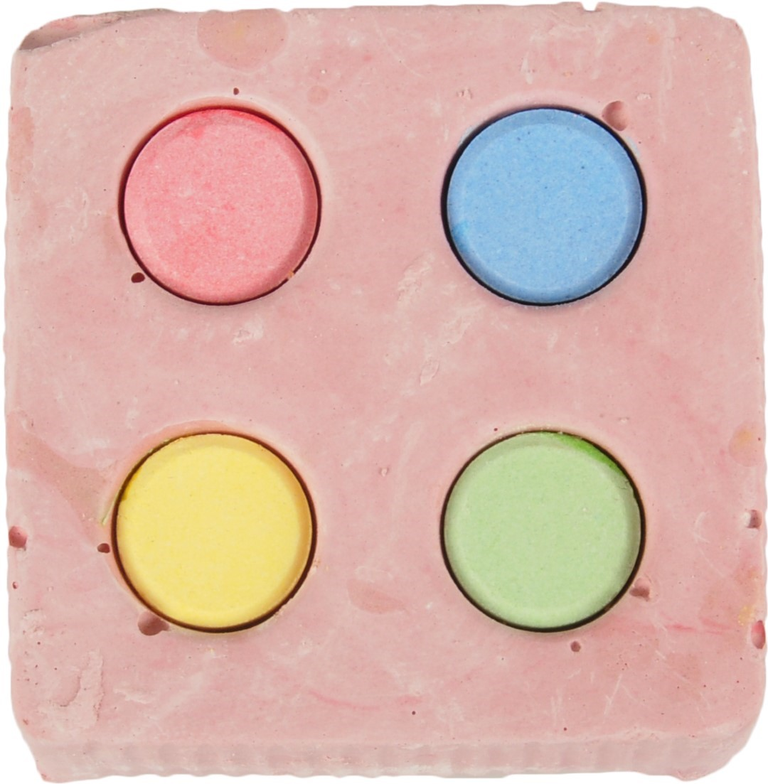 Calcium kubus 4 kleuren 120g Flamingo
