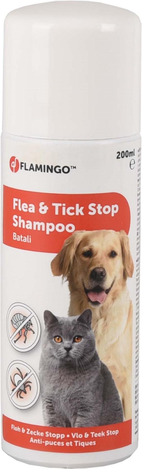 Antiparasiet batali vlo & teek stop shampoo 200 ml Flamingo