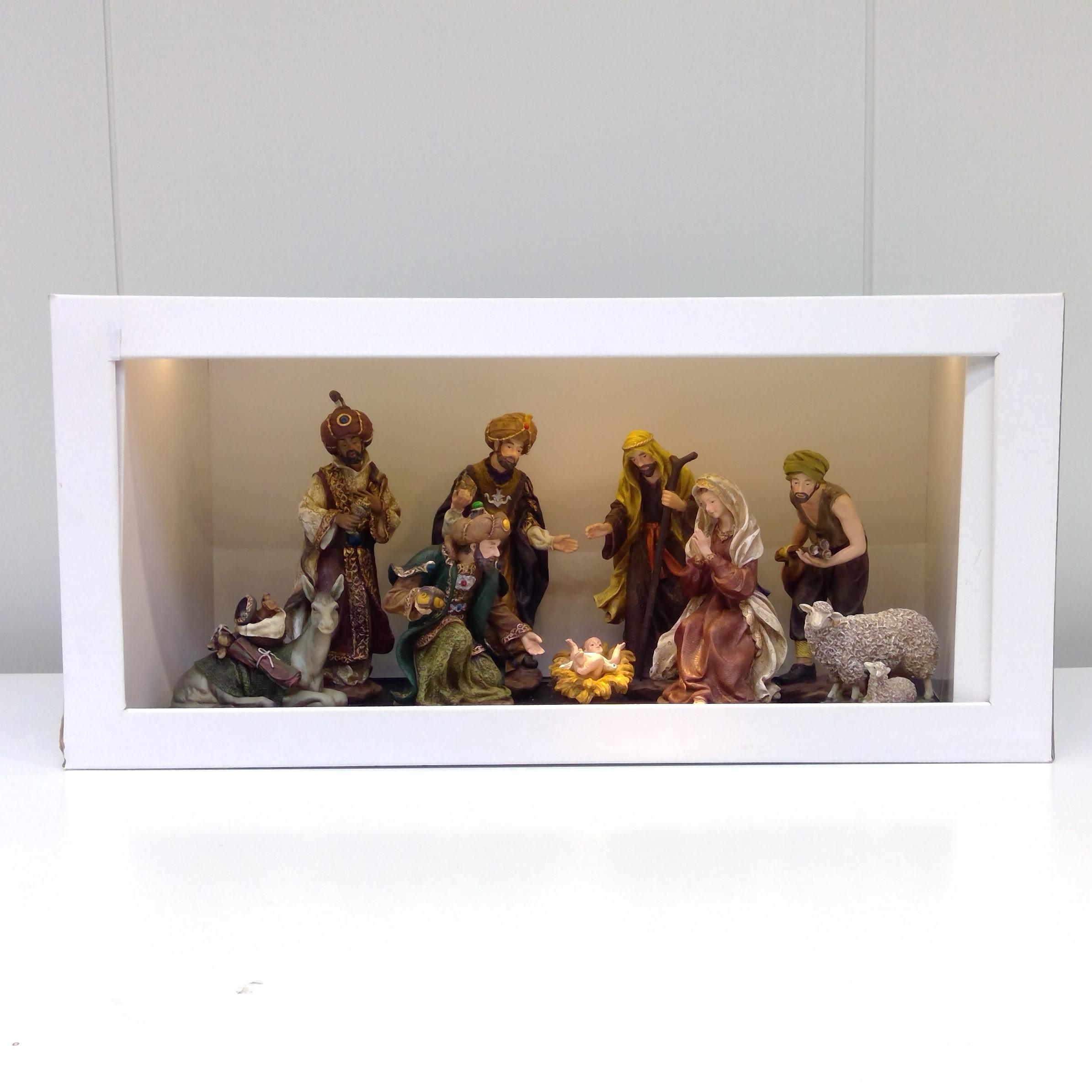 Poly nativity set - 9pc.