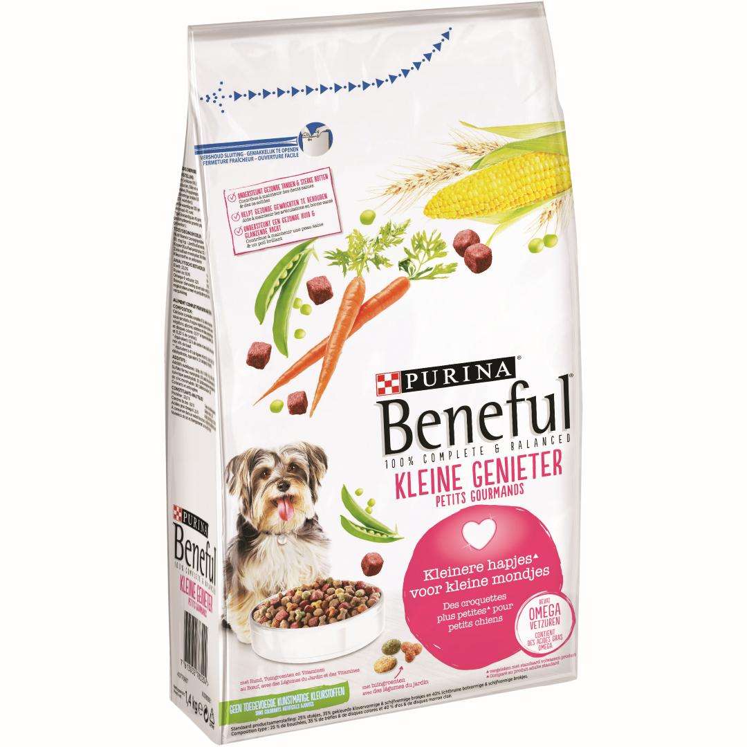 Beneful kleine genieter met rund, tuingroenten en vitaminen. droge hondenvoeding. 1,4kg Purina