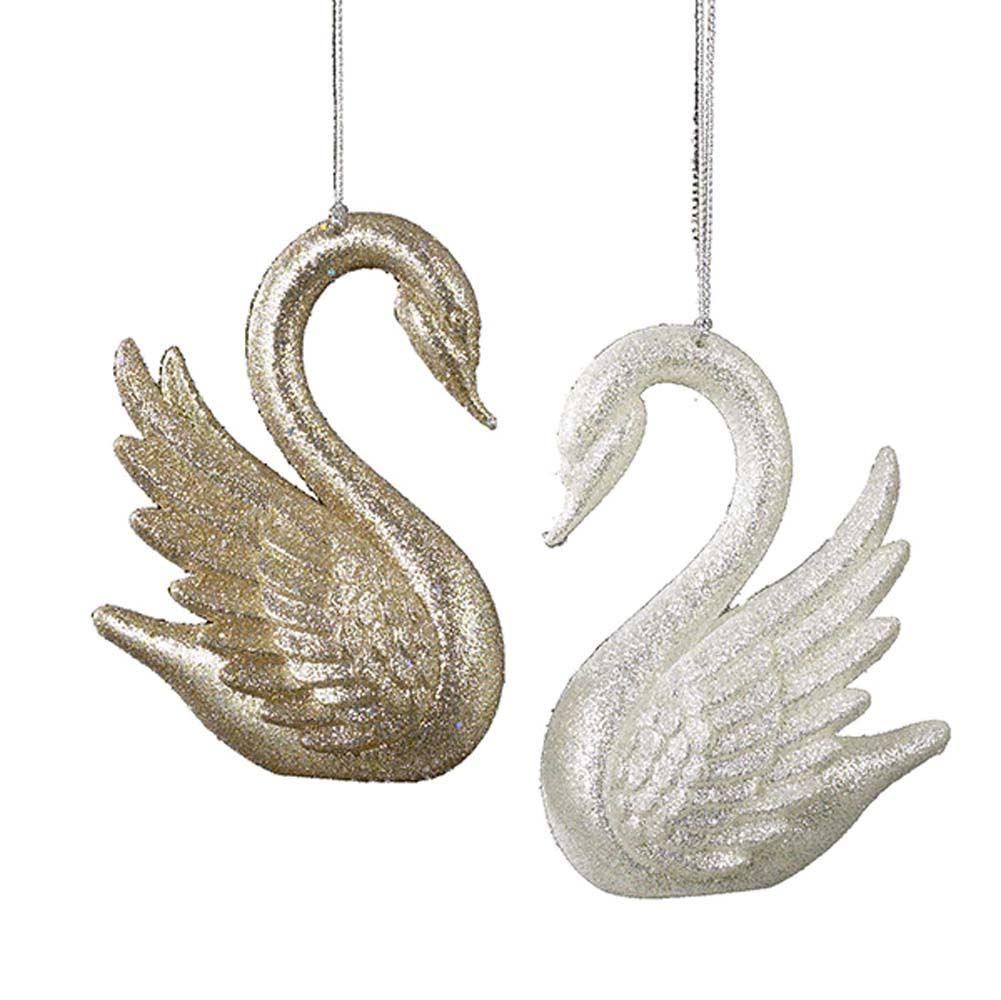Gold/Silver Swan 4 Inch