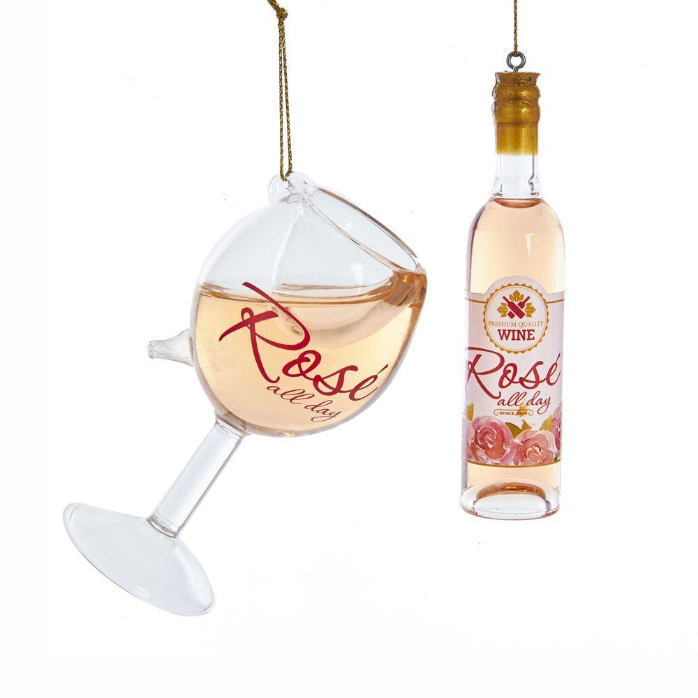 Rose Wine Bottle/Glass 4-4.5 Inch