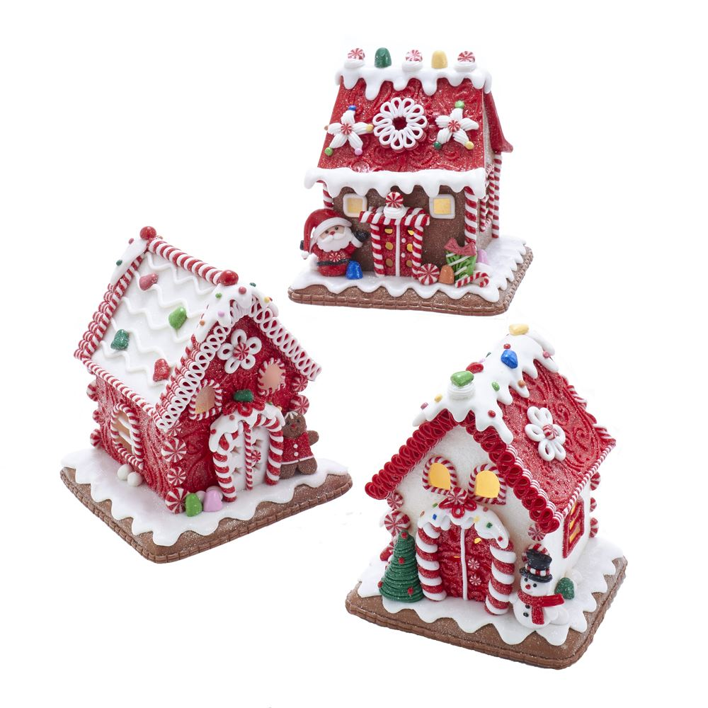 Gingerbread LED Candy House 5.5 Inch