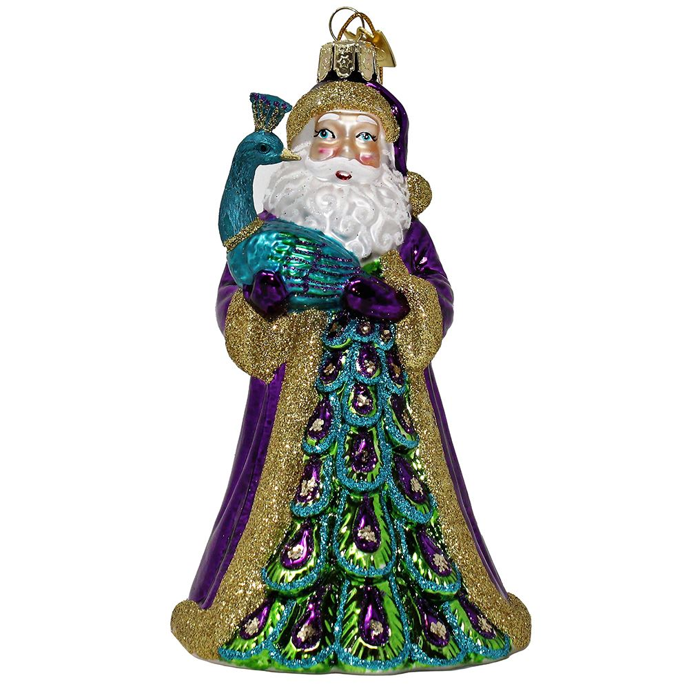 Noble Gems Ems Santa With Peacock 5.5 Inch