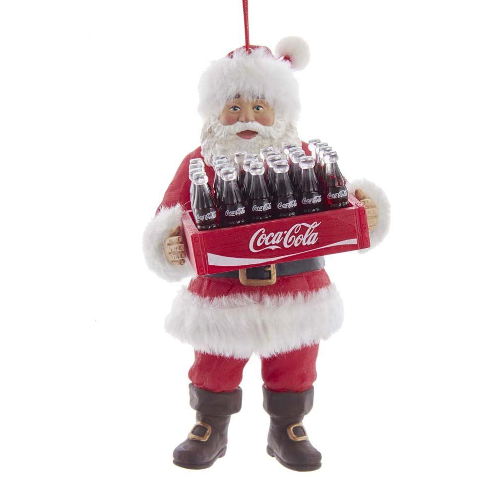 Santa Holding Case Of Coke 5.75 Inch