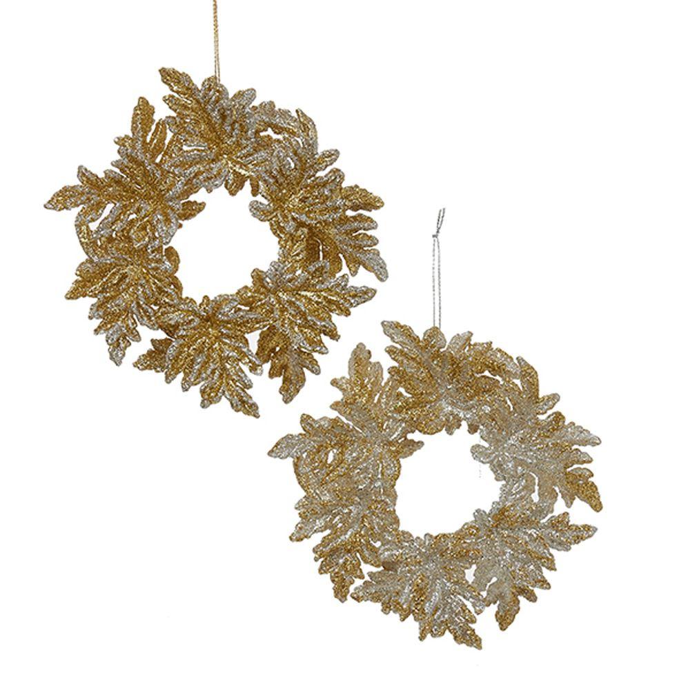 Gold/Silver Wreaths 5 Inch