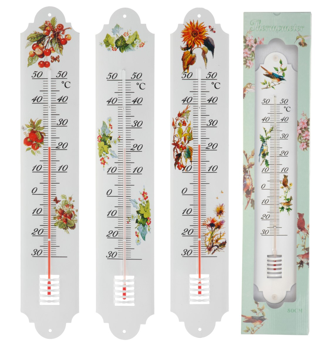 Thermometer metaal 4ass