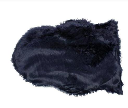 Schapenvacht 65x90cm dark blue