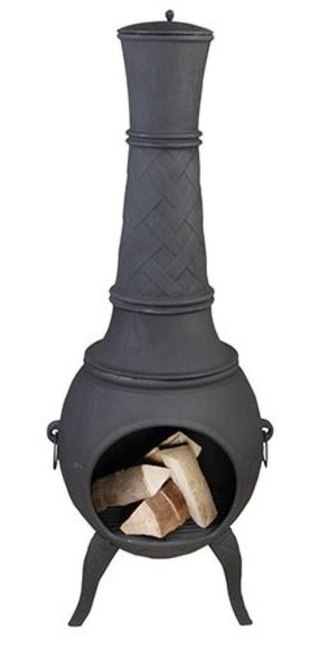Gietijzeren Terraskachel Grijs 150 cm
