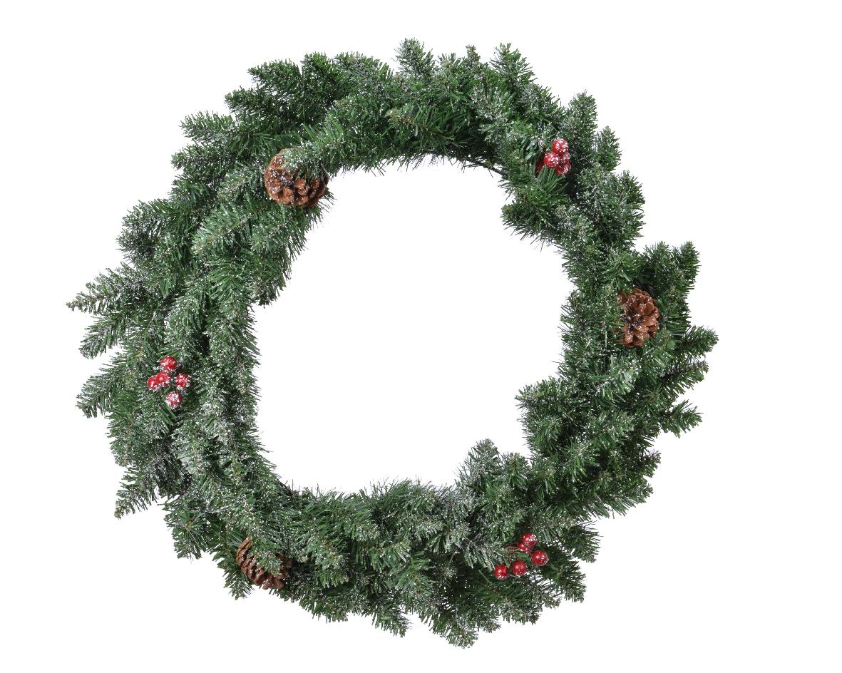 Kerstkrans Sherwood krans frosted d40 cm