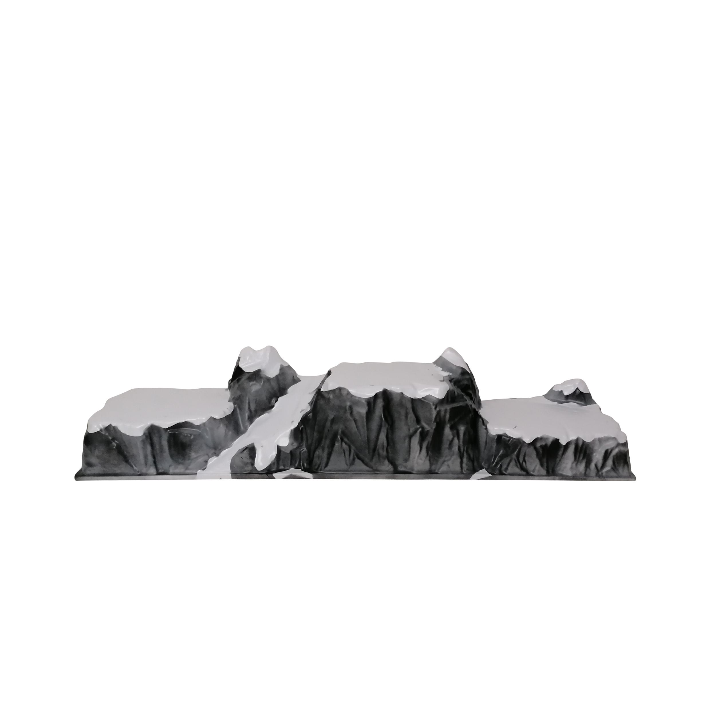 Basis kerstdorp trois vallees 120x22 cm