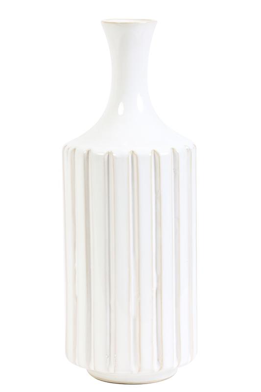 Vaas diameter 13,5 x 35 cm Dannee ceramics cream Light & Living