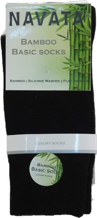 Bamboo basic sock black 35 38