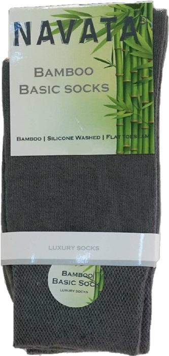 Bamboo basic sock middle grey 35 38