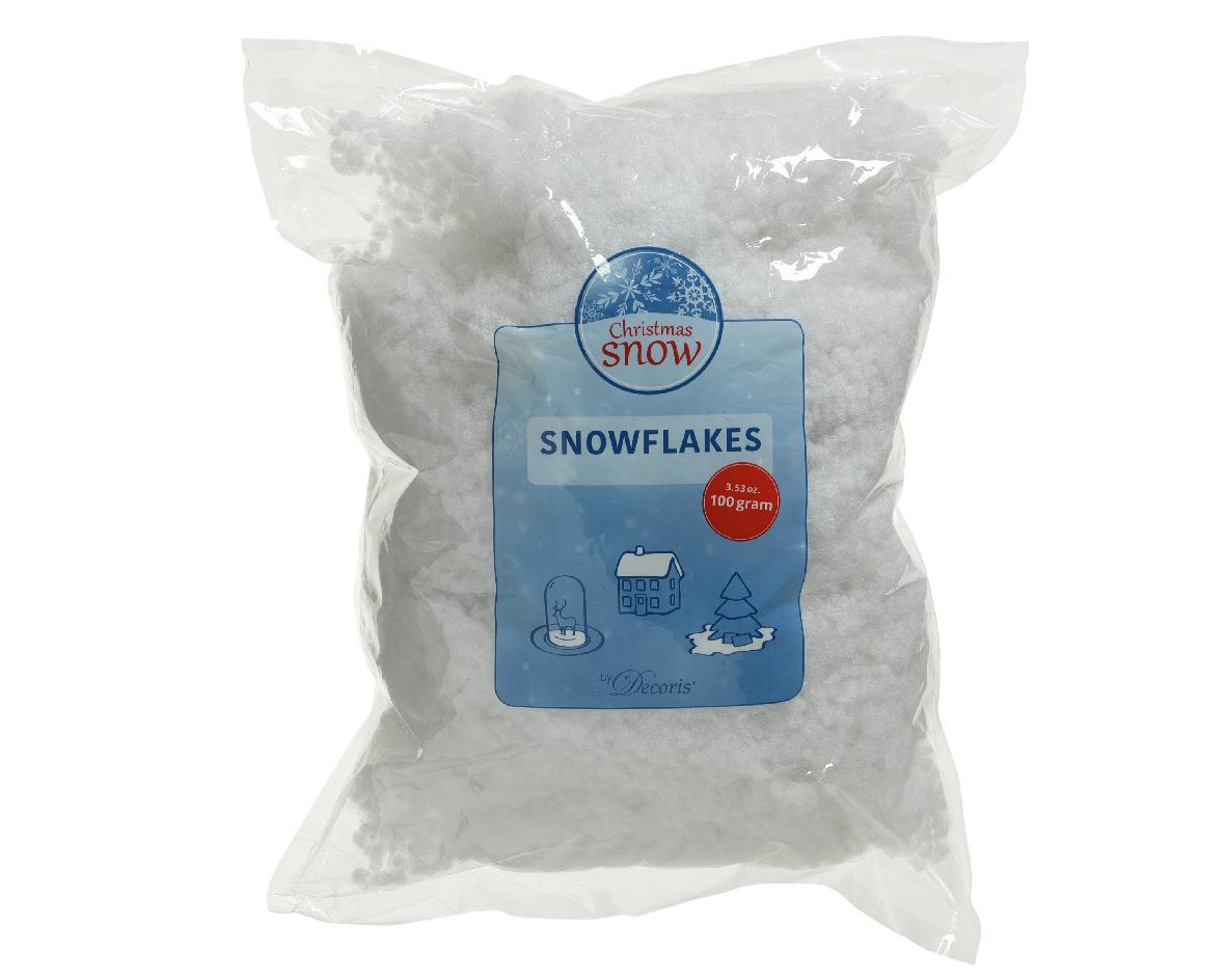 Sneeuwvlokken pes 100% 100gr wit