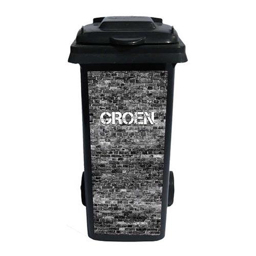 Containersticker Grijs Groen