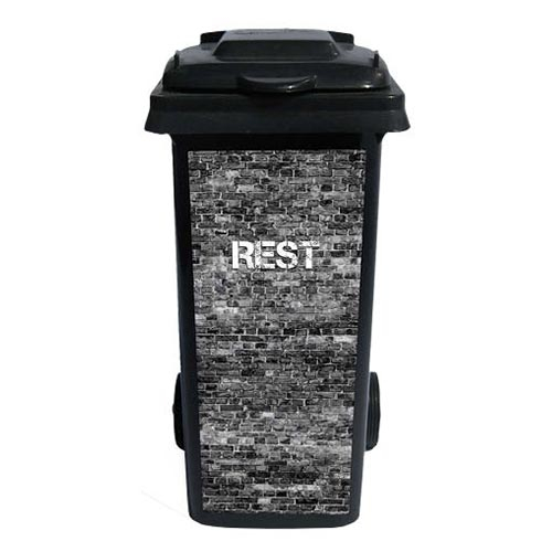 Containersticker Grijs Rest