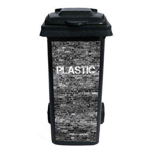 Containersticker Grijs Plastic