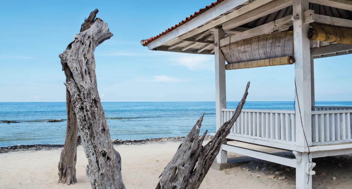 Tuinschilderij strand bali 70x130 cm