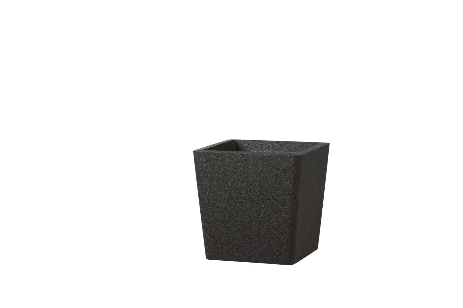 Iqbana pot conical black 32x32x32 cm
