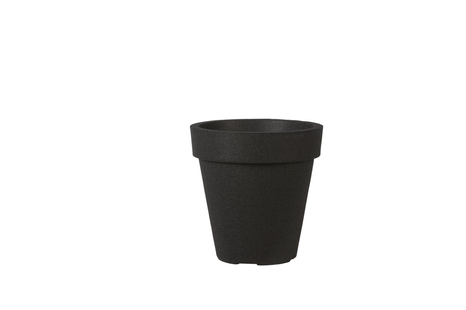 Iqbana pot milano round black