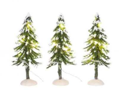 Snowy Trees With Warm White Light 3 Pieces-Luville Accessories