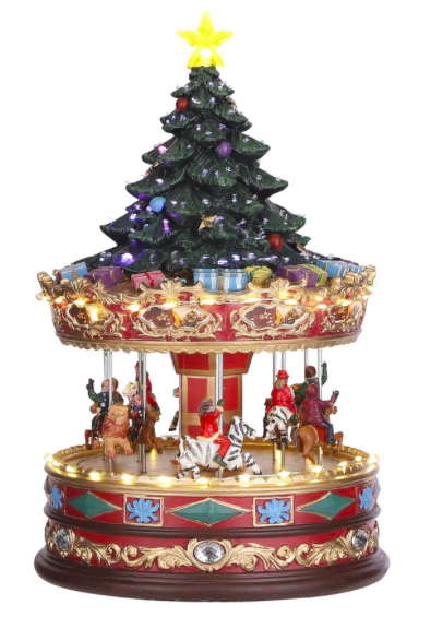 Luville - Carousel with Christmas tree on top adapter included
