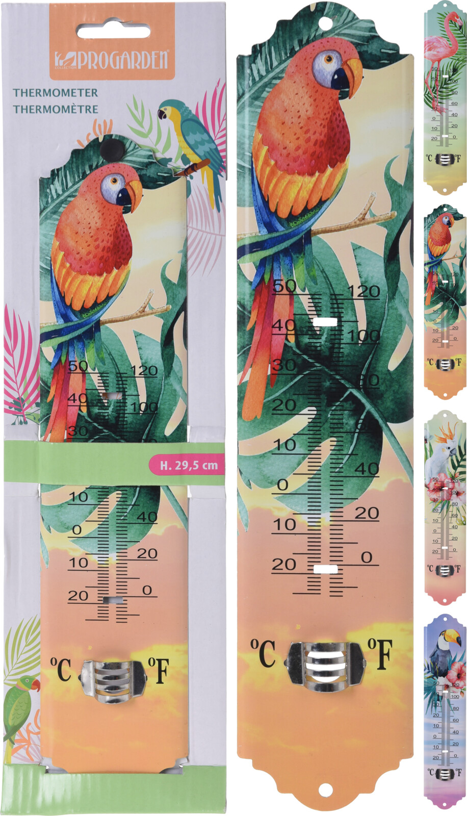Thermometer 29.5cm 4ass tropis