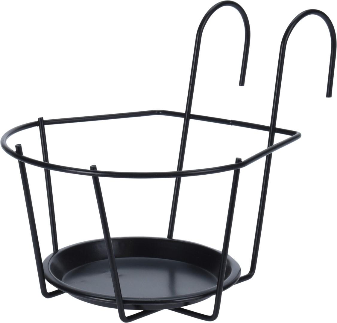 Bloempothouder metaal zwart