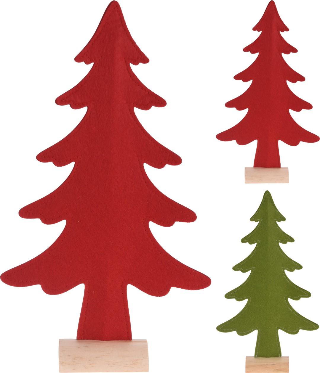 Kerstboom 40 cm vilt 2 assorti