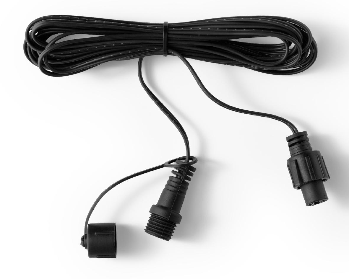 5m verlengkabel zwart l500 cm zwart