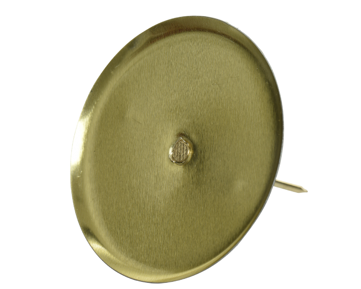 Kandelaar ijzer d8h4.50 cm l.goud
