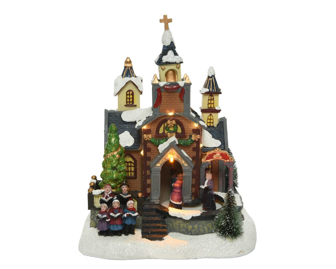 LED kerk bo l15b20h24cm-8L w.wit