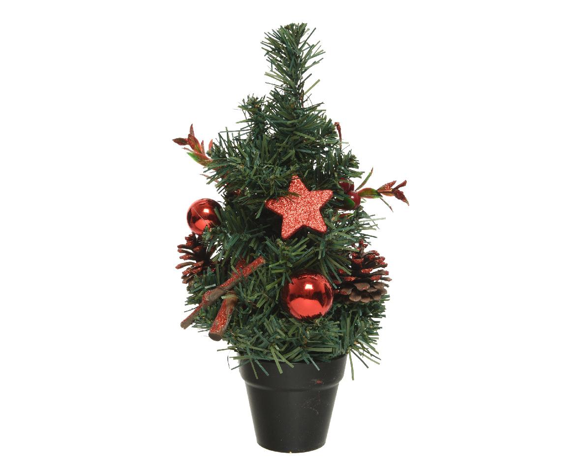 Mini boom d15h30cm groen/rood