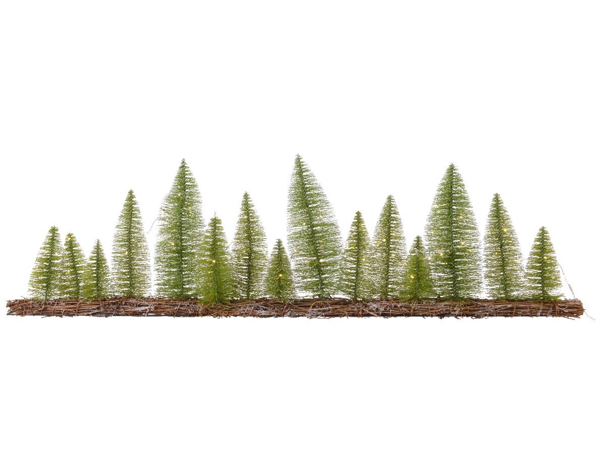 Mini kerstboom tafelboom bloemstuk boom h100 cm-60L groen/wit