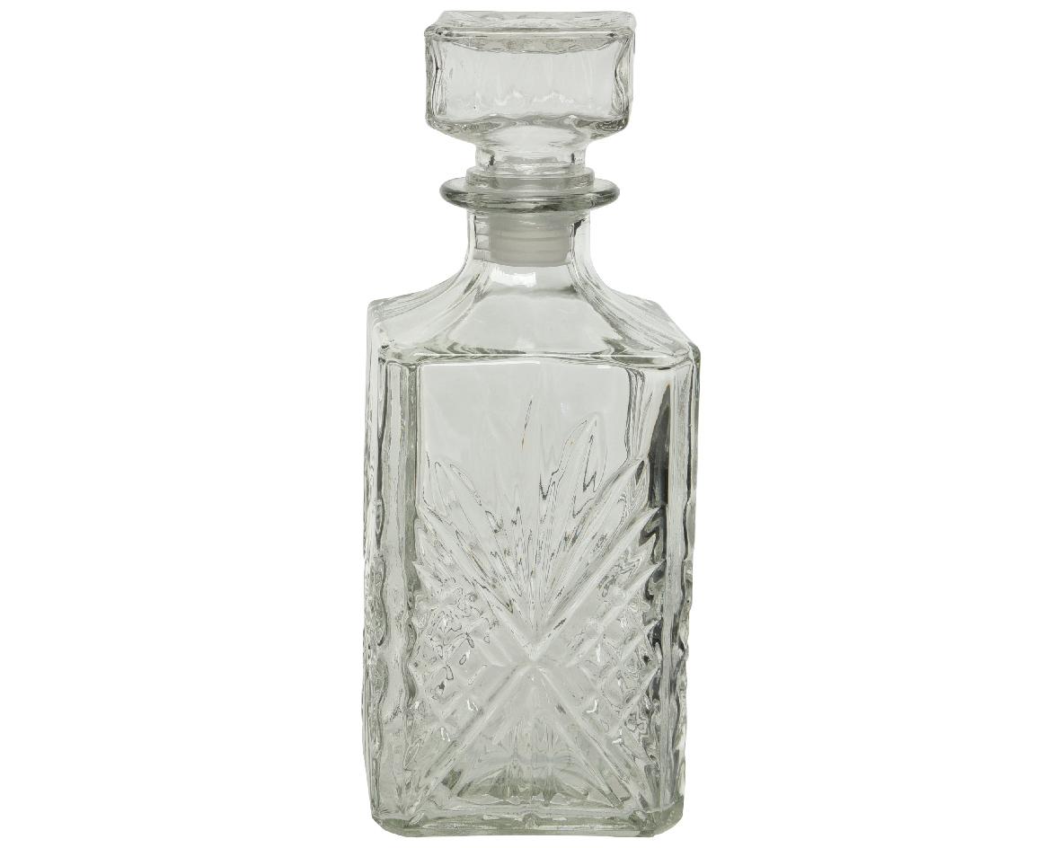 Fles glas d9,2h23 cm transparant a2
