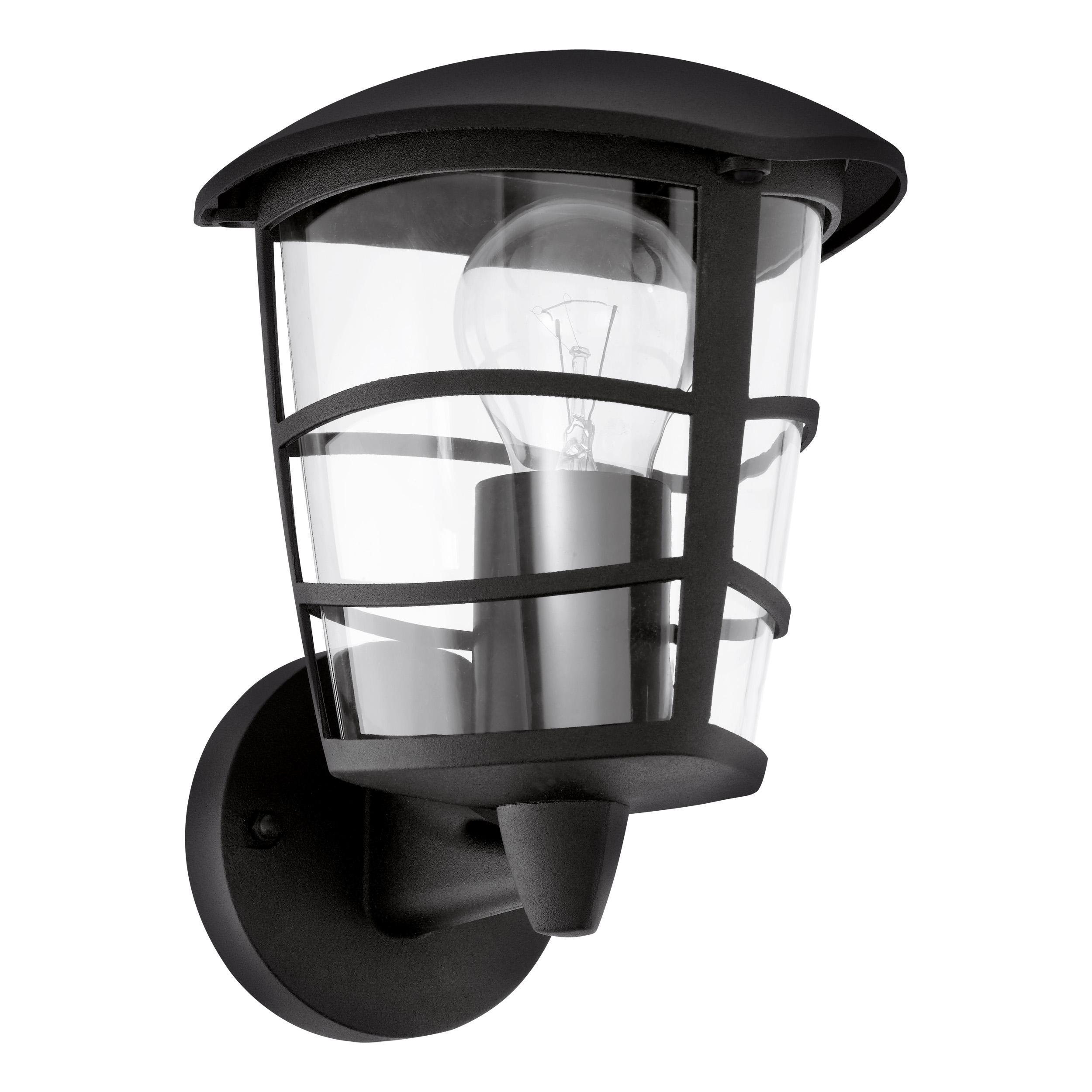 Wandlamp opwaarts zwart aloria