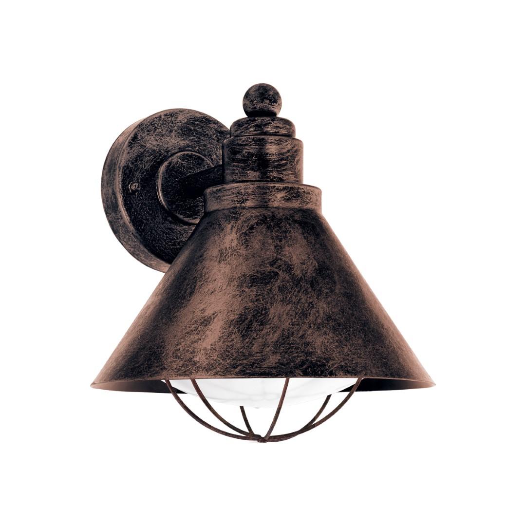 Wandlamp antiek-koper barrosela E27