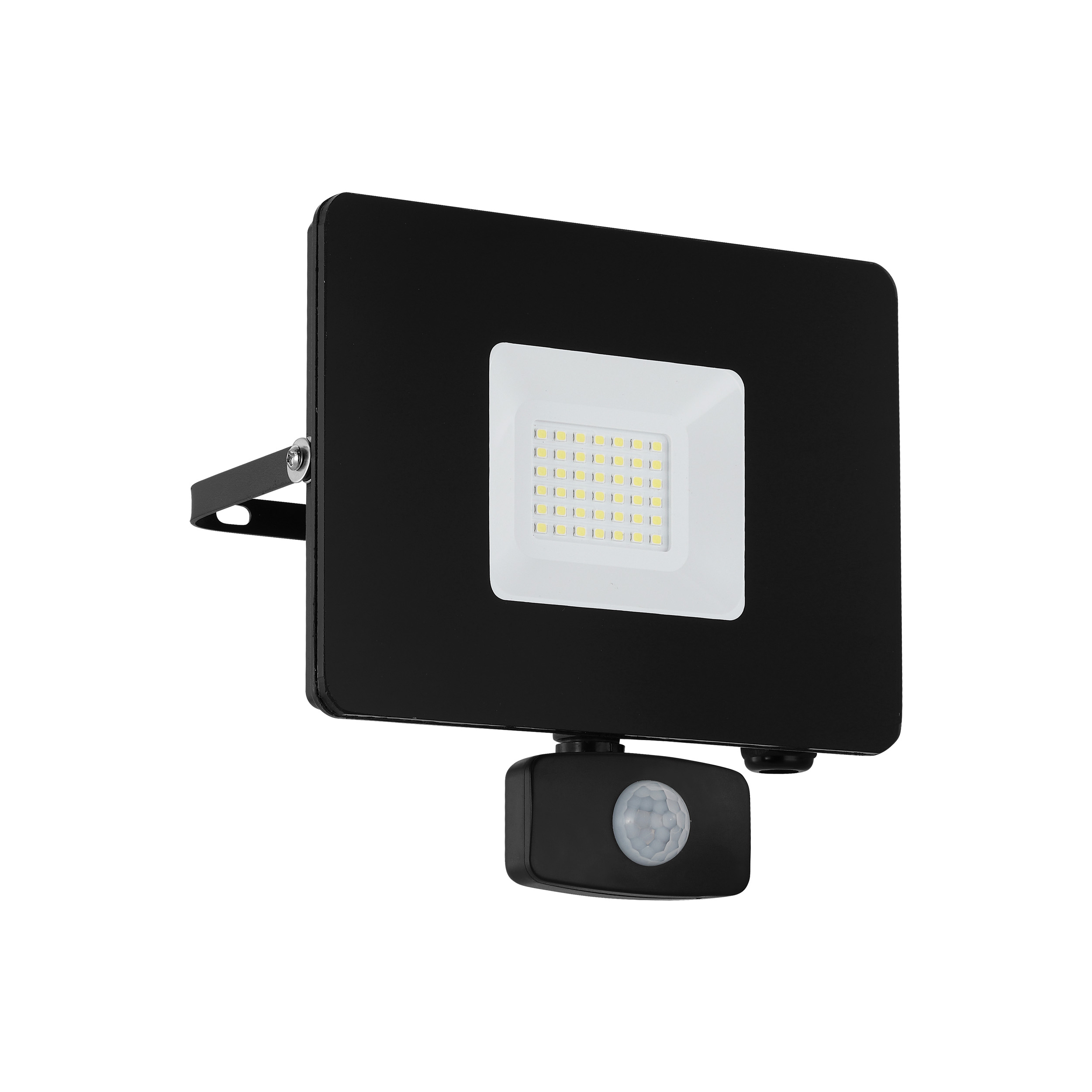 Led buiten wandlamp faedo 3 met sensor 30W zwart