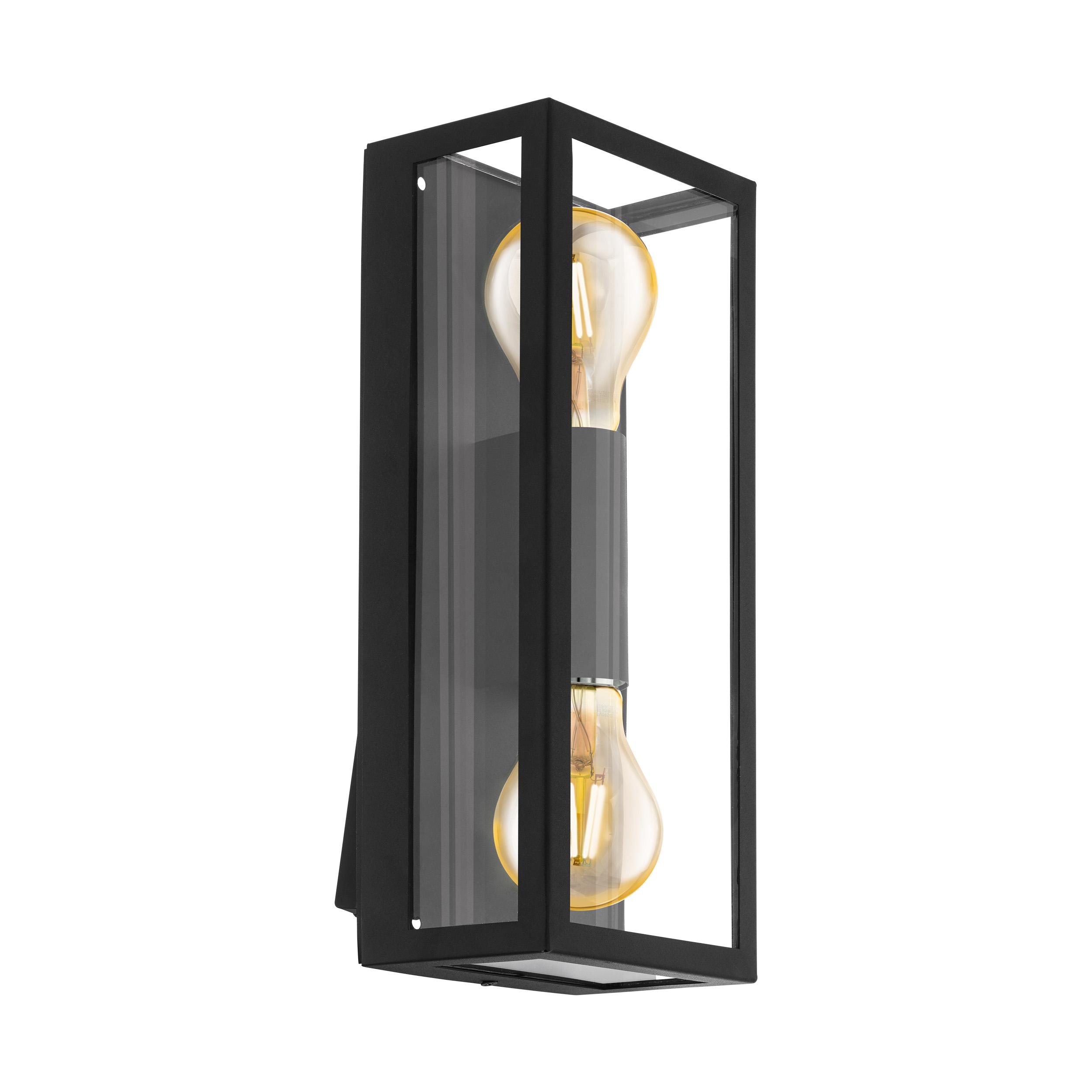 Wandlamp alamonte 1 E27 zwart/helder
