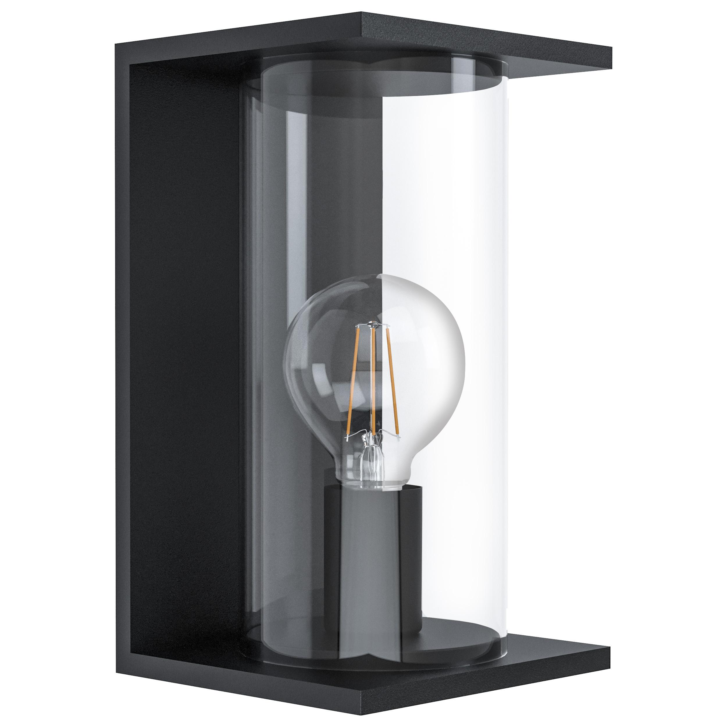 Wandlamp zwart cascinetta E27 40W